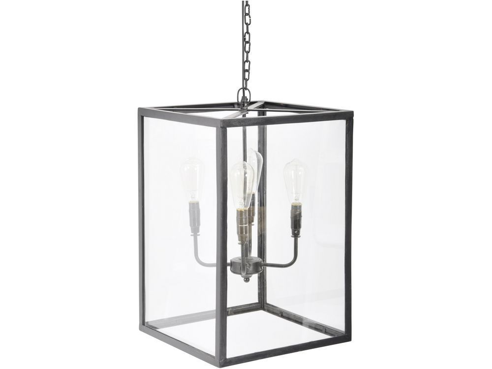 The square glass ceiling lamp is part of our range of modern ...