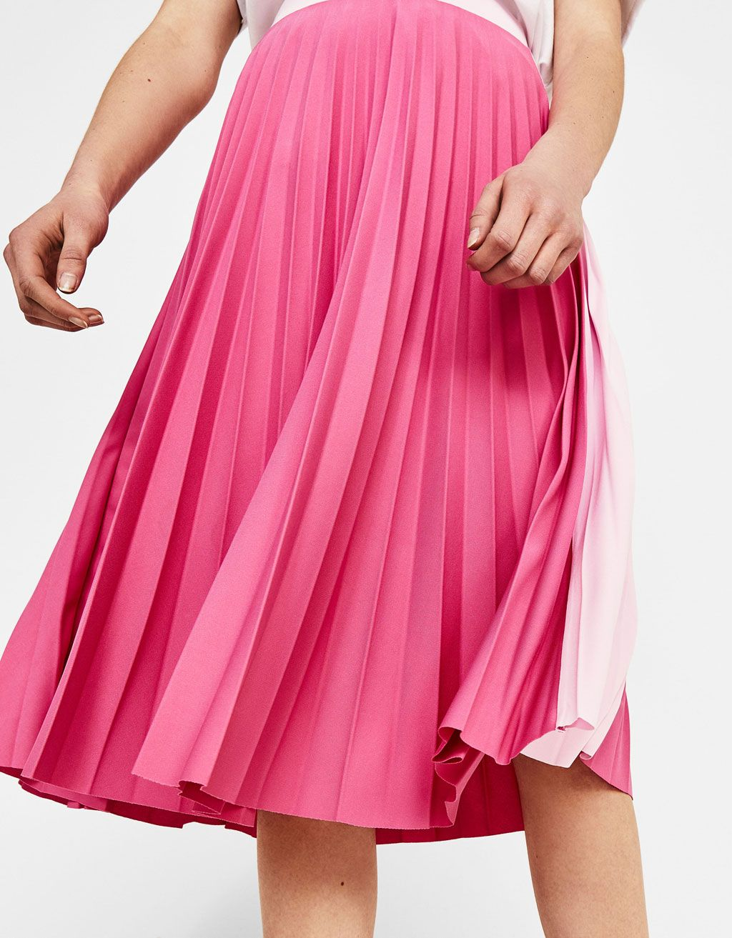 huge discount 6209f 13d15 Pleated midi skirt - Bershka fashion product cool trend trendy pink  outfit girl