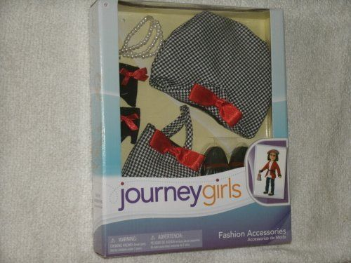 NEW-Journey-Girls-18-inch-Doll-Fashion-Outfit-Black-and-White-Hat-and-Handbag