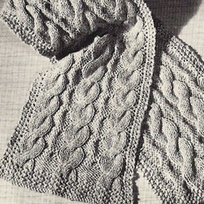 Simple Cabled Scarf Free Knitting Pattern The Knitting