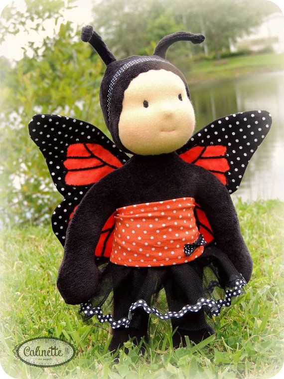 Corine  ButterflyWaldorf Doll 10 by Calinette on Etsy