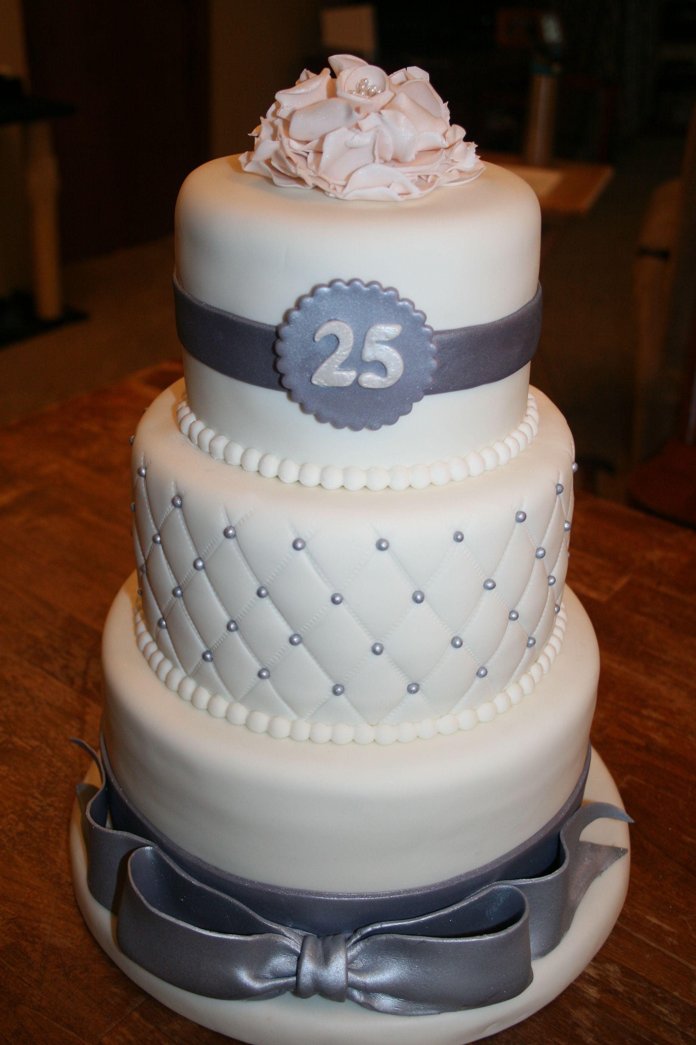 25th Anniversary Cake | Anniversary cake, 25 anniversary ...