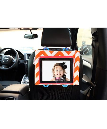 Talk about on-the-go entertainment! This cute case creates a personal theater and activity center for traveling tots. Simply download those favorite flicks or games onto a tablet then hang it from a shopping cart, stroller, play pen and more for instant visual stimulation. Designed by moms for moms, the pretty print keeps the case cute while protecting technology from slips, drops and eager little fingers.