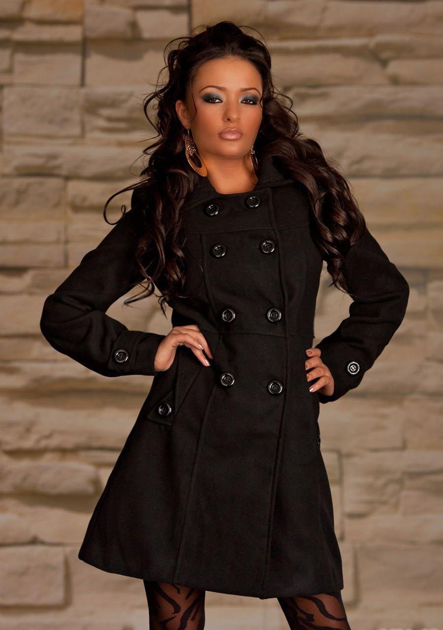 Manteau noir femme en solde