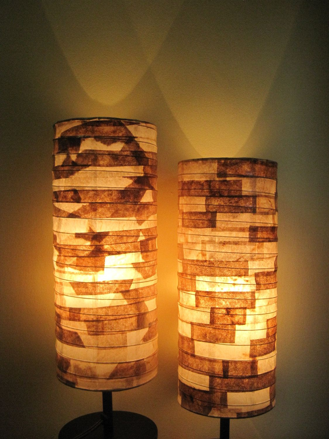 COFFEE FILTER ART - Rustic Table Lamp Paper Lamp Shade Eco ... for Recycled Paper Lamp  143gtk