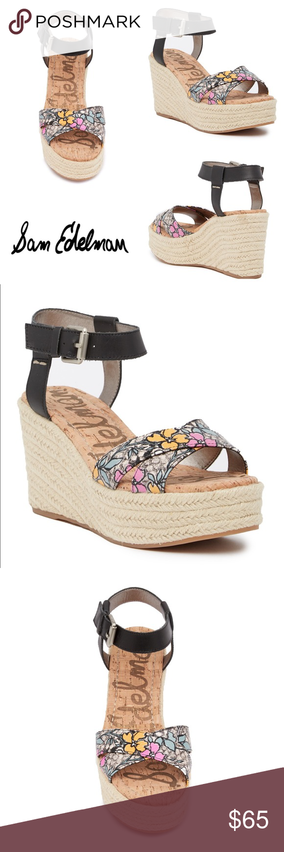 cfa0dfd025332 NWT Sam Edelman Destin Espadrille Wedge Sandal 11M SAME DAY or NEXT DAY at  the latest shipping!! • Sizing  11M. True to size. Standard width.