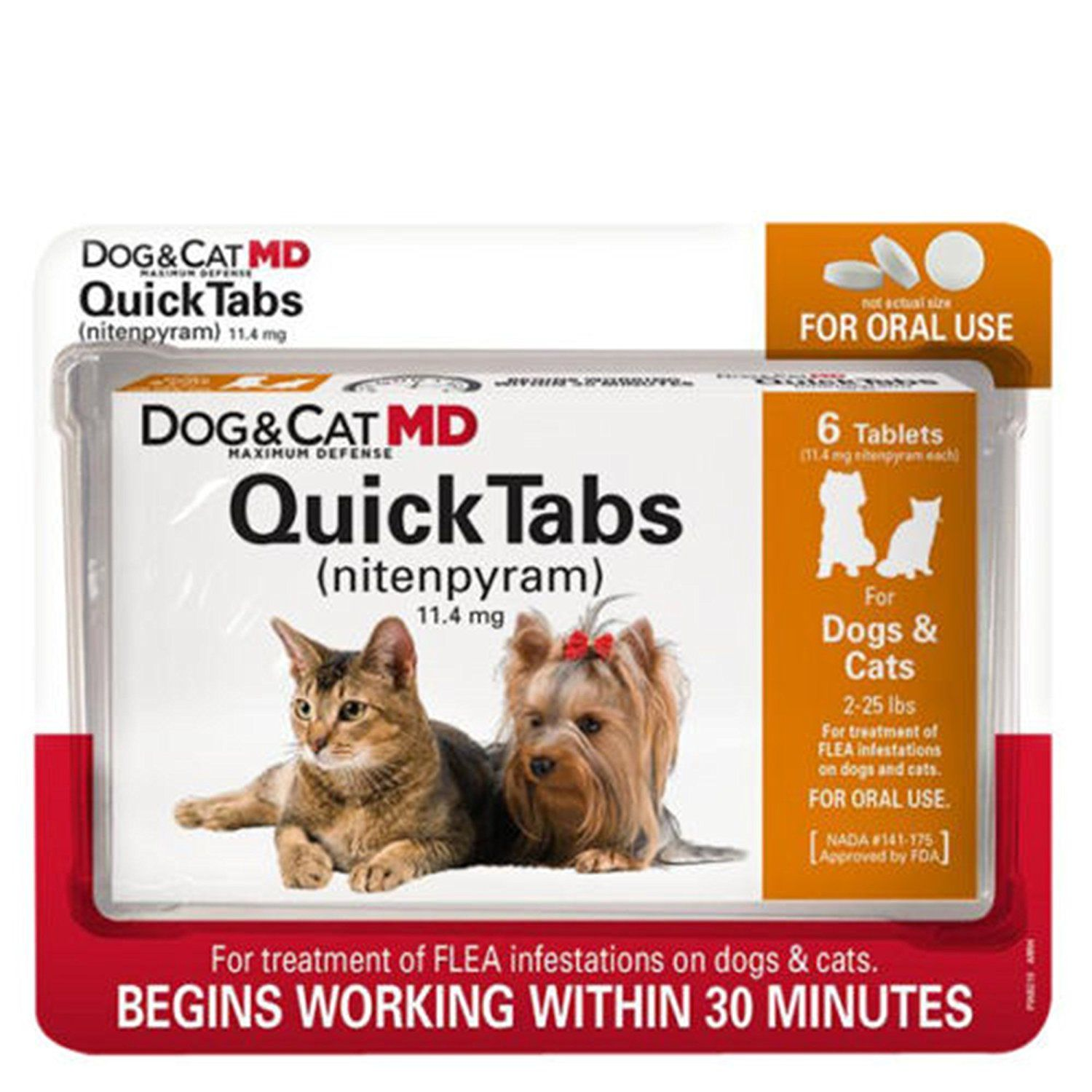 New Dog And Cat Md Quick Tabs For 2 25 Lbs Nitenpyram Capstar Remarkable Product Available Now F Flea Treatment Flea Medicine For Cats Cat Medicine