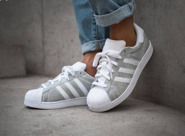 adidas chaussure femme argenté pailleté