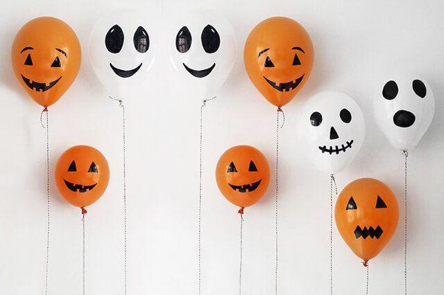 C mo decorar en halloween con globos halloween globo y - Decoracion fiesta halloween ...