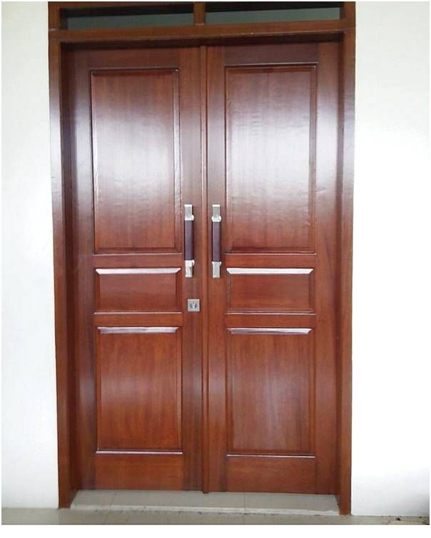 desain pintu rumah 2 kayu modern terbaru
