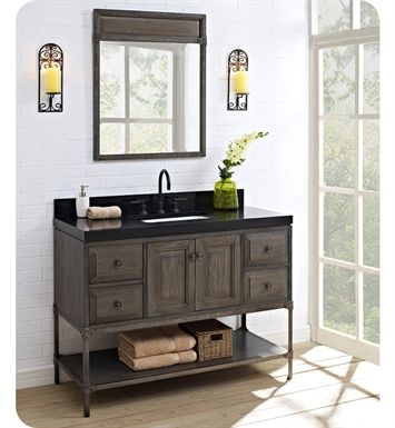 Fairmont Designs Toledo Inch Traditional Bathroom Vanity - 48 inch grey bathroom vanity