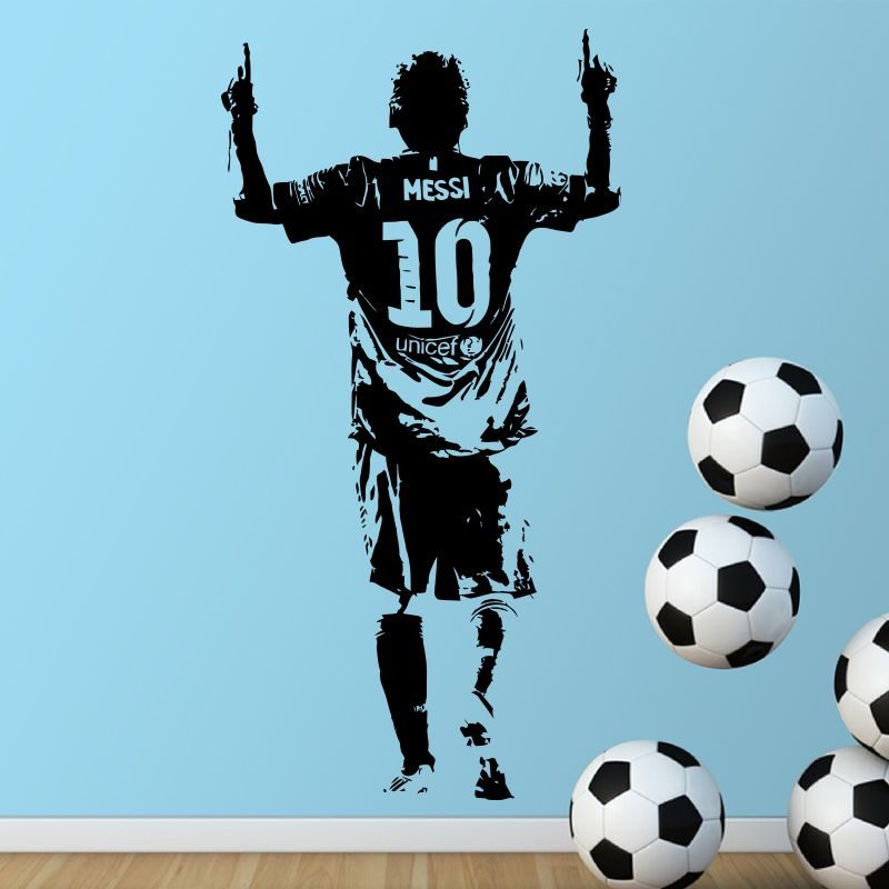 Find More Wall Stickers Information About 2016 New Design Lionel Messi Figure Wall Sticker Vinyl Diy Home Decor Foot Kids Room Wall Stickers Lionel Messi Messi