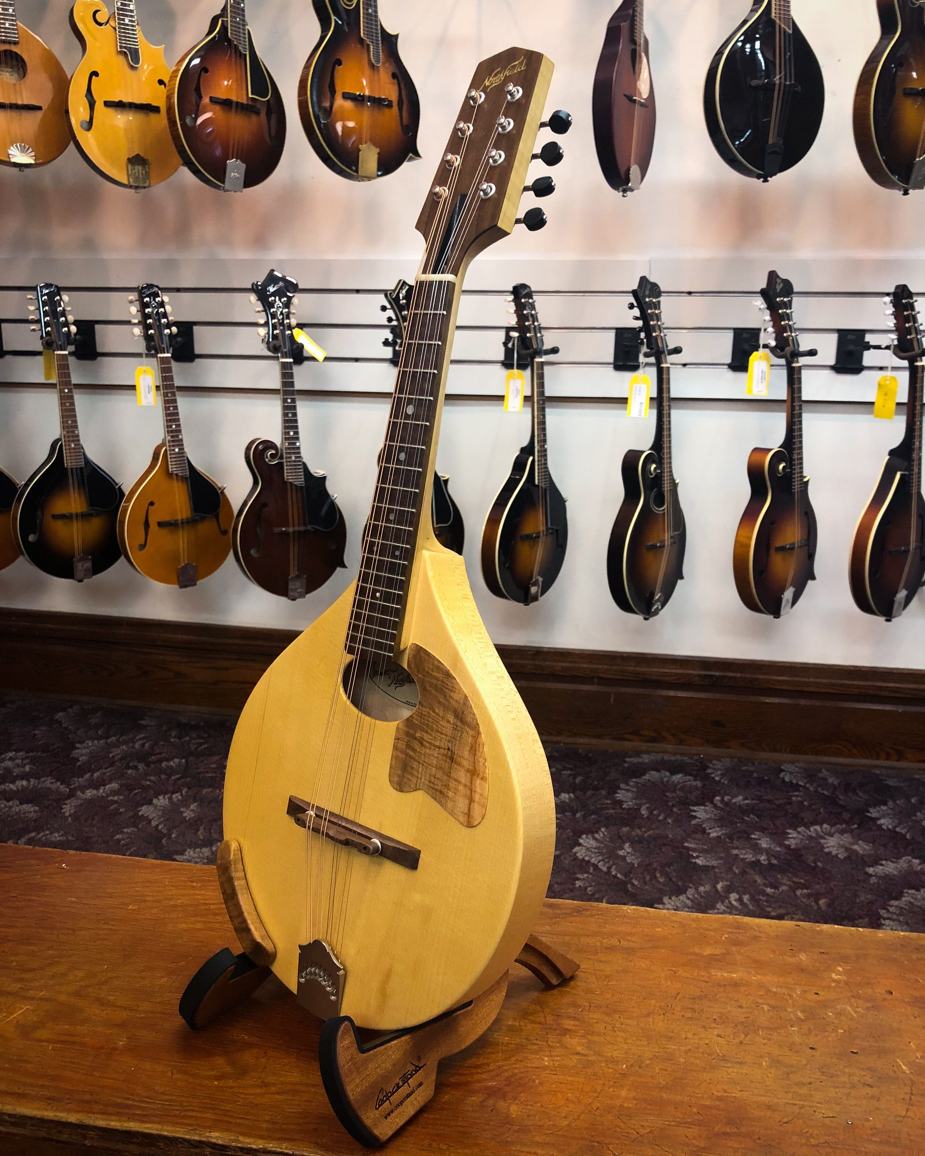 Made In Northfields Marshall Michigan Shop This A Model Mandolin Is An Excellent Addition To The Northfield Line Its Built With Flat Solid Spruce