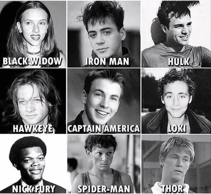 Marvel actors old pictures