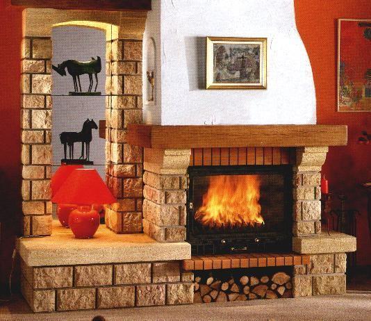 Chimeneas r sticas opciones para bungalows y casas de - Fotos de chimeneas rusticas ...