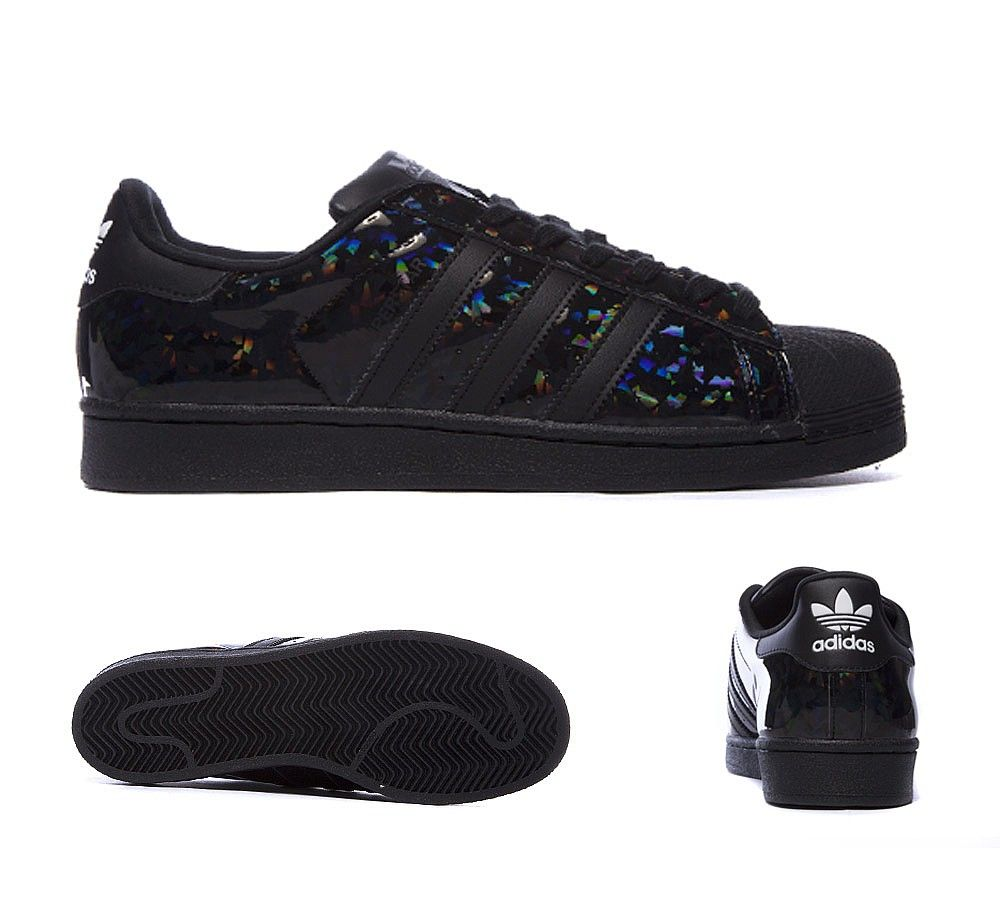 hot sale online 71403 6f91a adidas Originals Superstar Patent Trainer   Black   Print   Footasylum