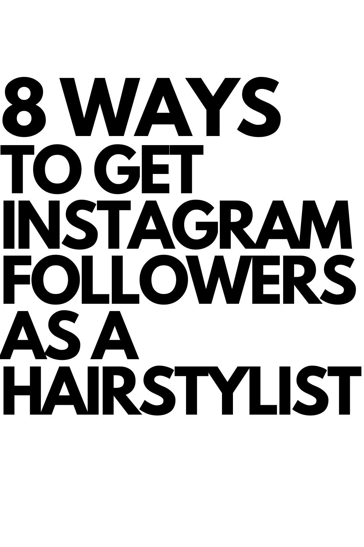 Instagram Markting For Hairstylist In 2020 Instagram