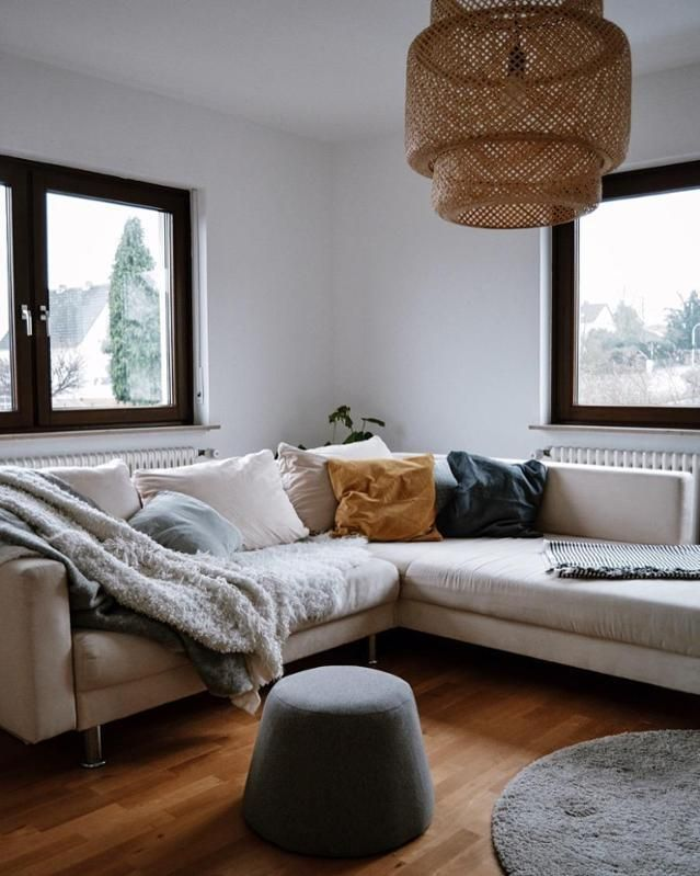 Gemütliche Sofaecke bei liebes-ding! #IKEA #wohnzimmer #COUCH #sofa - gemütliches sofa wohnzimmer