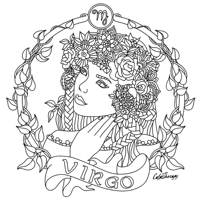 zodiac signs printable coloring pages - photo#34