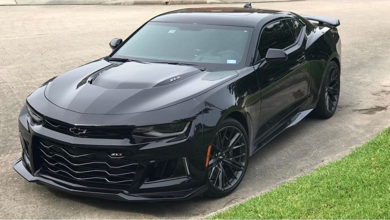 Chevrolet Camaro Zl1 Coupe Painted In Black Photo Taken By
