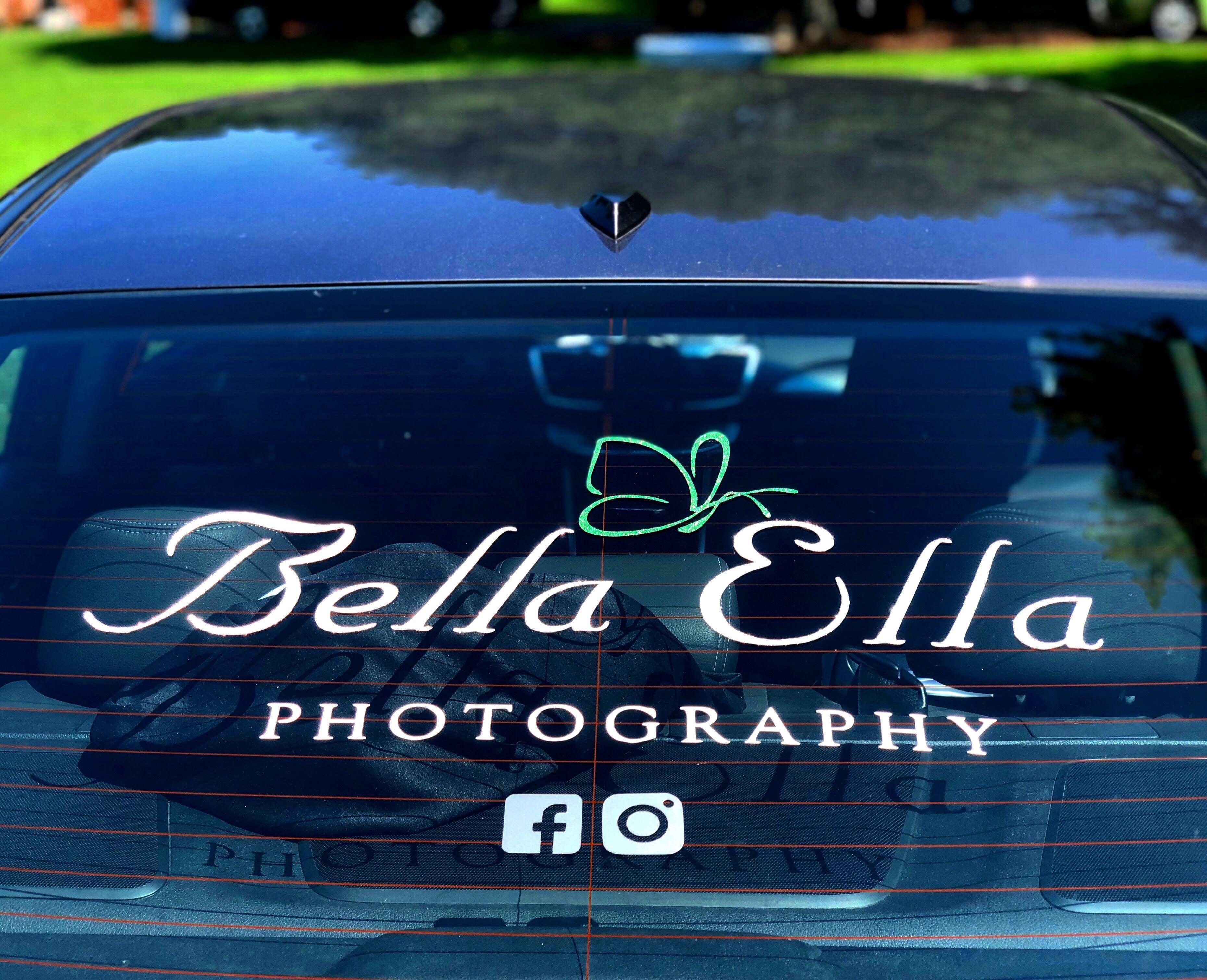 Car rear window business organization promote decal custom