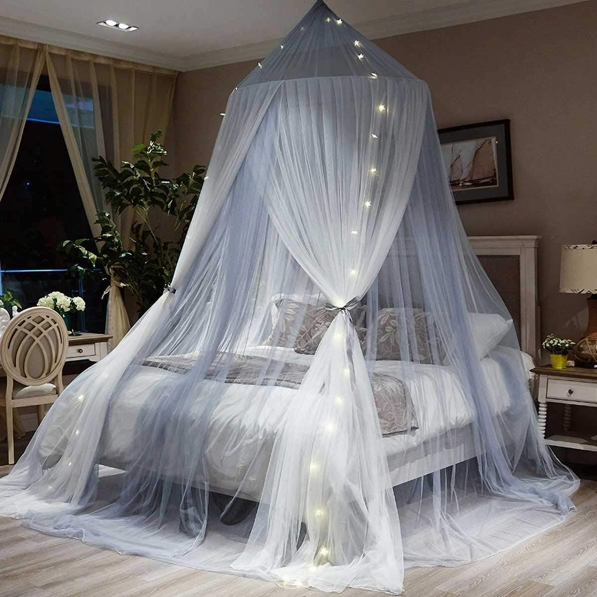 Romantic Princess Mosquito Net in 2020 Bed canopy with