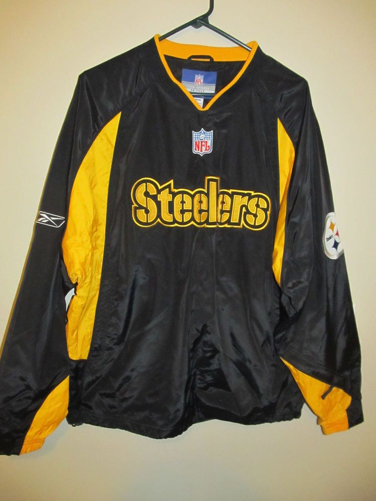 online store 256d7 ba5be Pittsburgh Steelers Sideline Pullover jacket - Reebok Adult ...