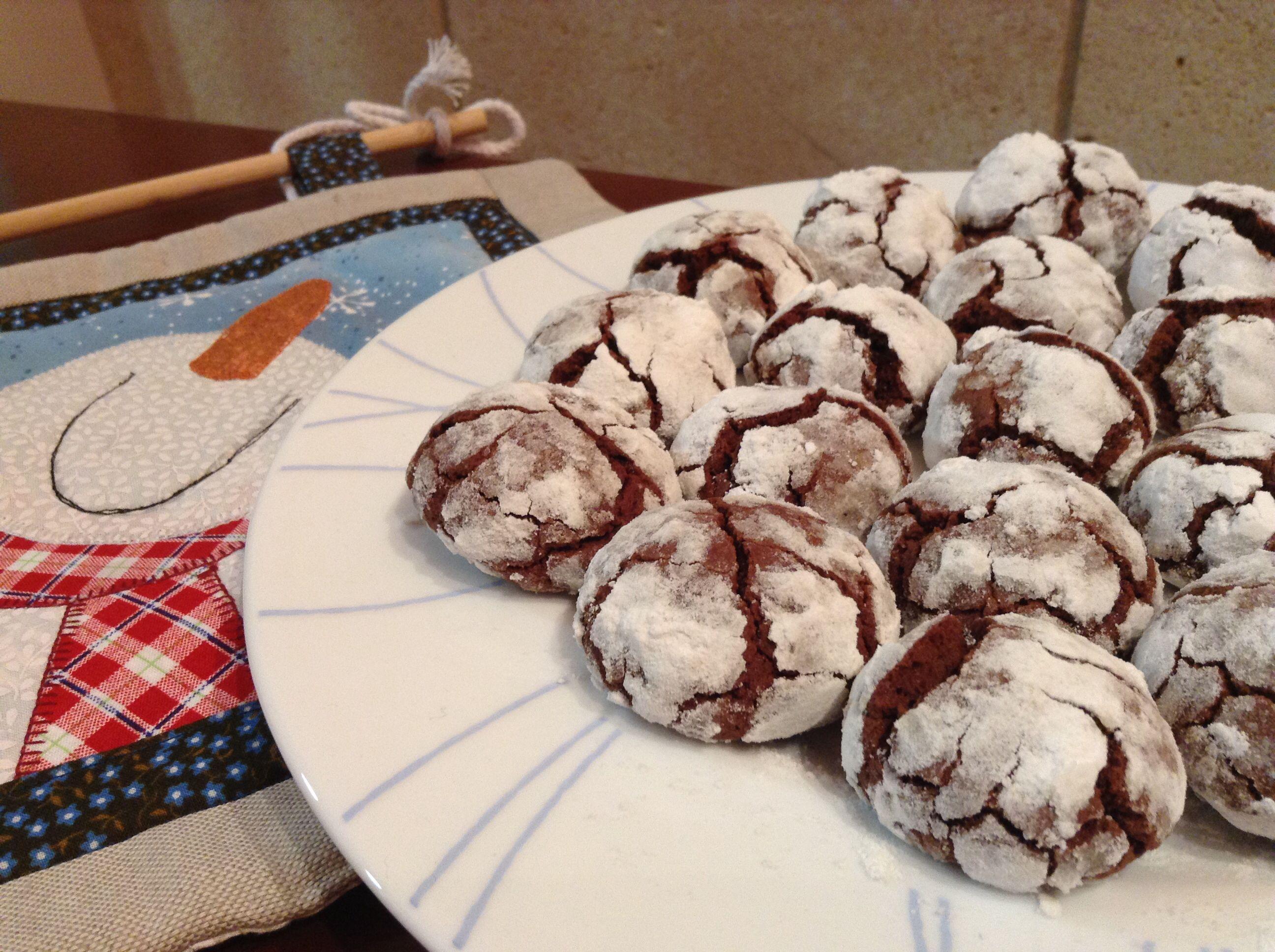 Crinkles de chocolate. Feliz 2014!