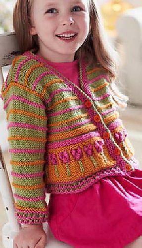 Ravelry Flower Border Cardigan Pattern By Bernat Design Studio Knitting Girls Baby Knitting Patterns Knitting Patterns