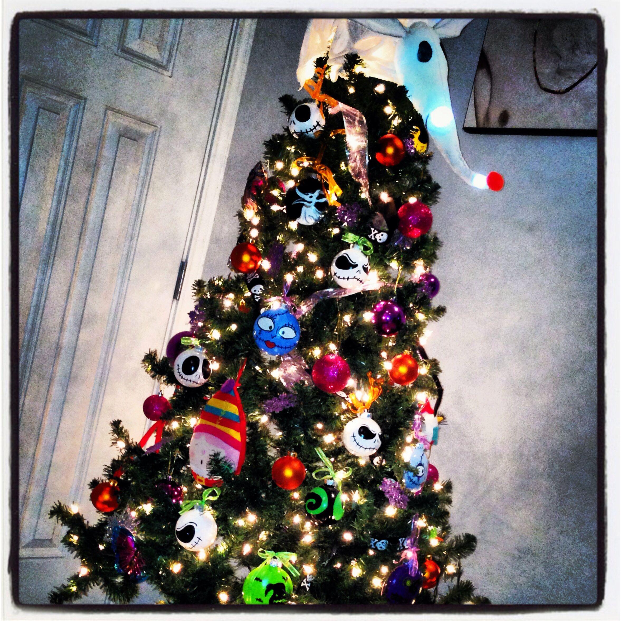Nightmare before christmas tree with handmade ornaments | Holidays ...