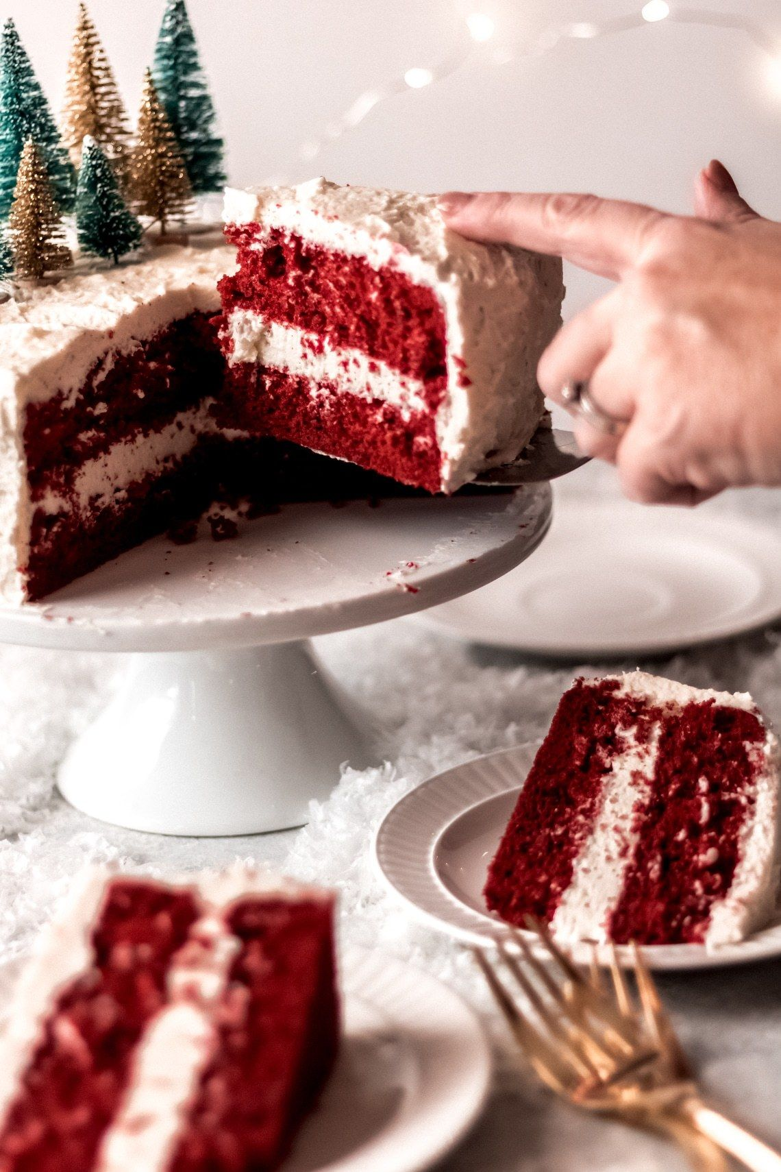 Red Velvet Cake With Butter Roux Frosting Recipe Velvet Cake Magic Cake Recipes Red Velvet Cake