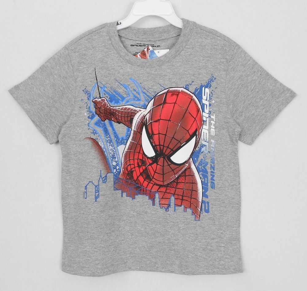 Children Clothes Boy Tops Short Sleeve T-shirt Cartoon Spiderman Cotton Top 2-7Y