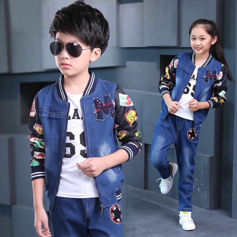 1a62371e0209 Children Sports Suit Spring Autumn Girls