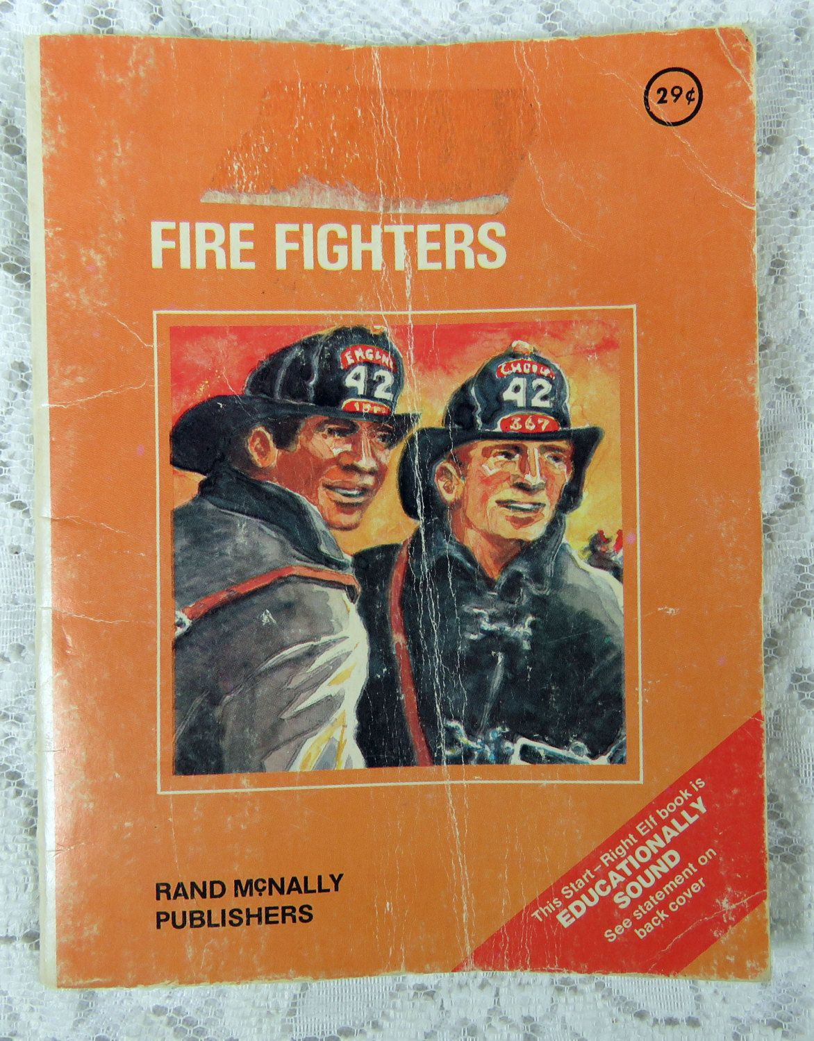Vintage Fire Fighters Children's Book by Rand McNally, 1971 by YzTreasures on Etsy