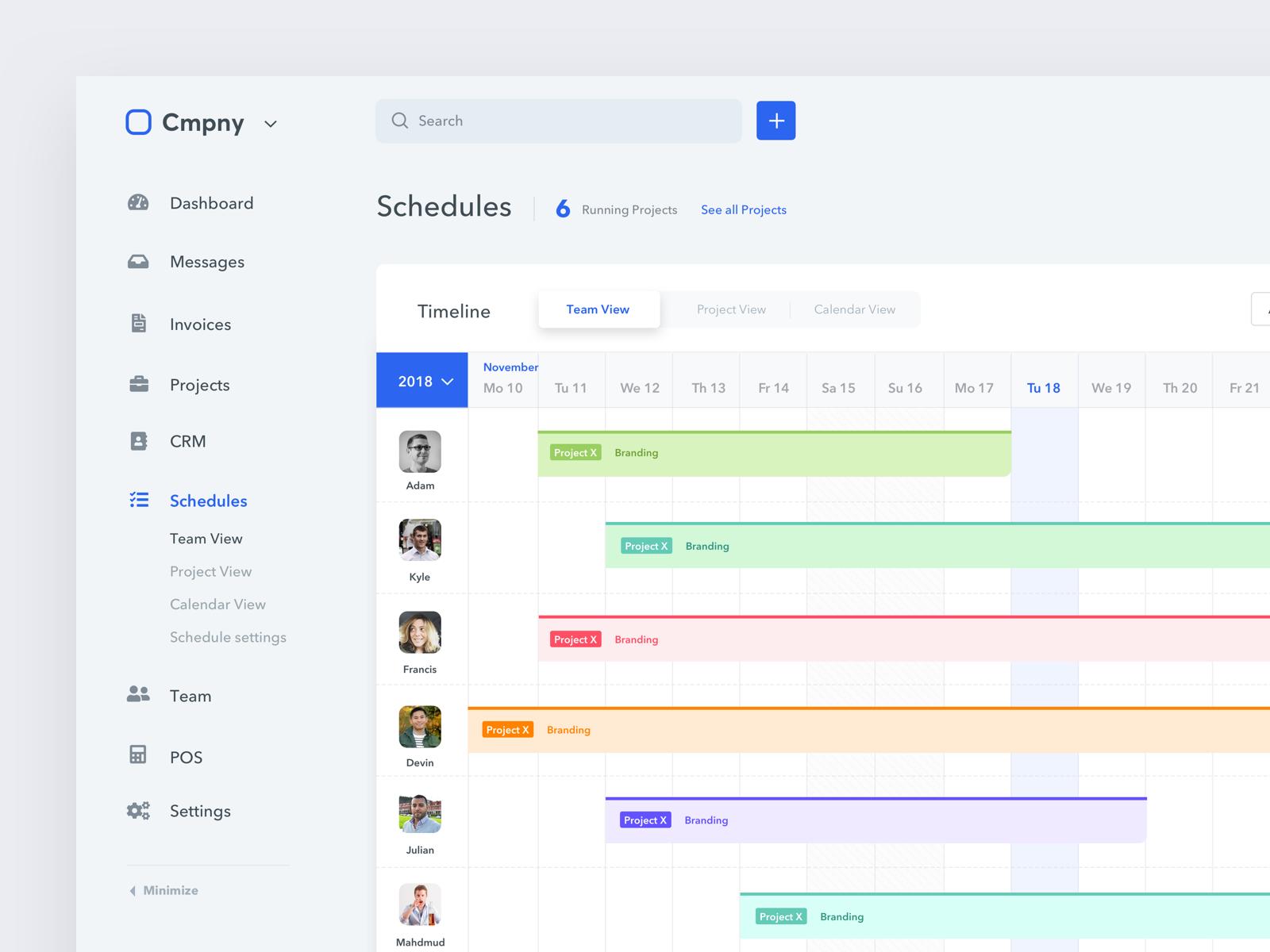 Schedule Page App design, Web design, Schedule design