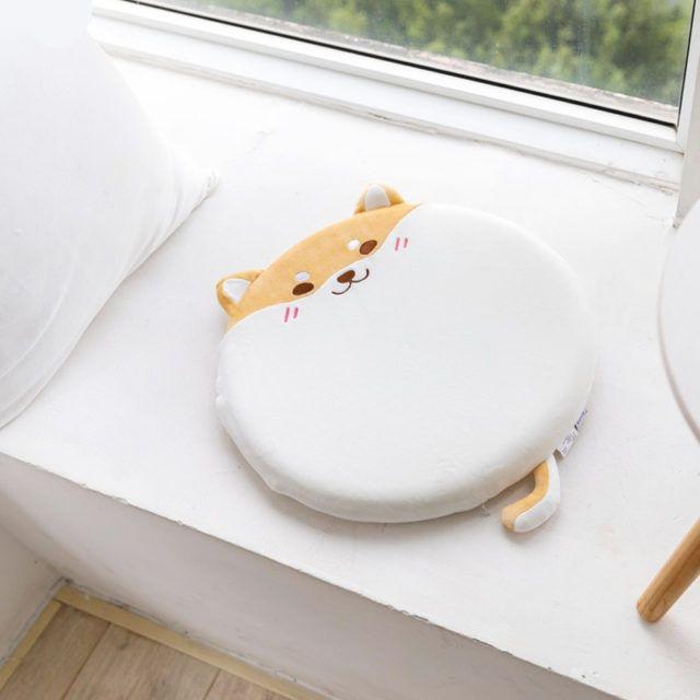 Kawaii Shiba Inu Chair Cushion | Rainbow Cabin