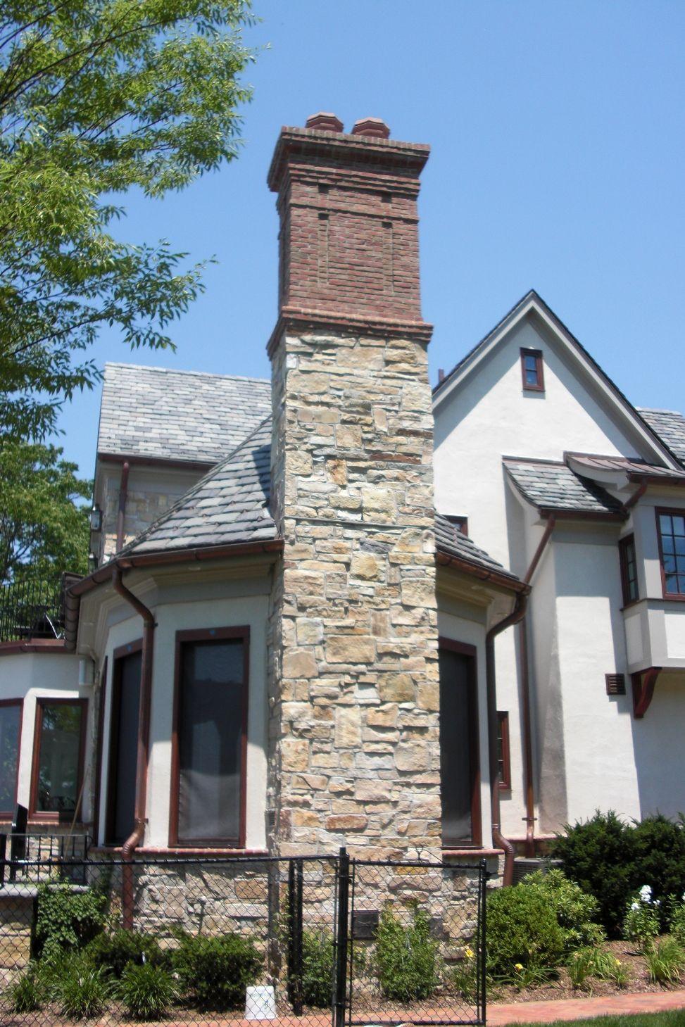 Stone Brick Chimney Installed By Tinogc Exterior Brick Veneer Chimney Design Exterior Brick