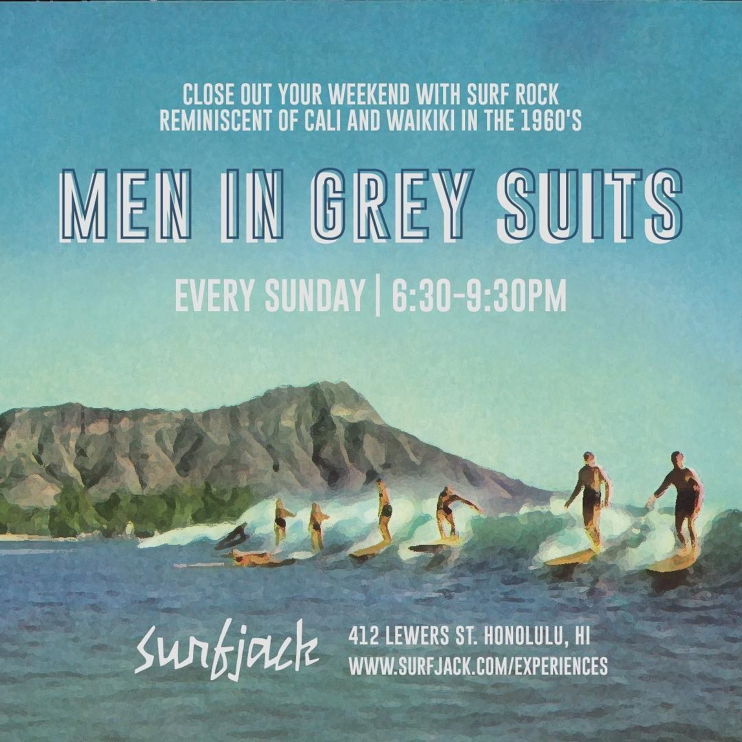 every sunday  throwback surf rock with local legends: men in grey suits  http://ift.tt/2fsSn1P