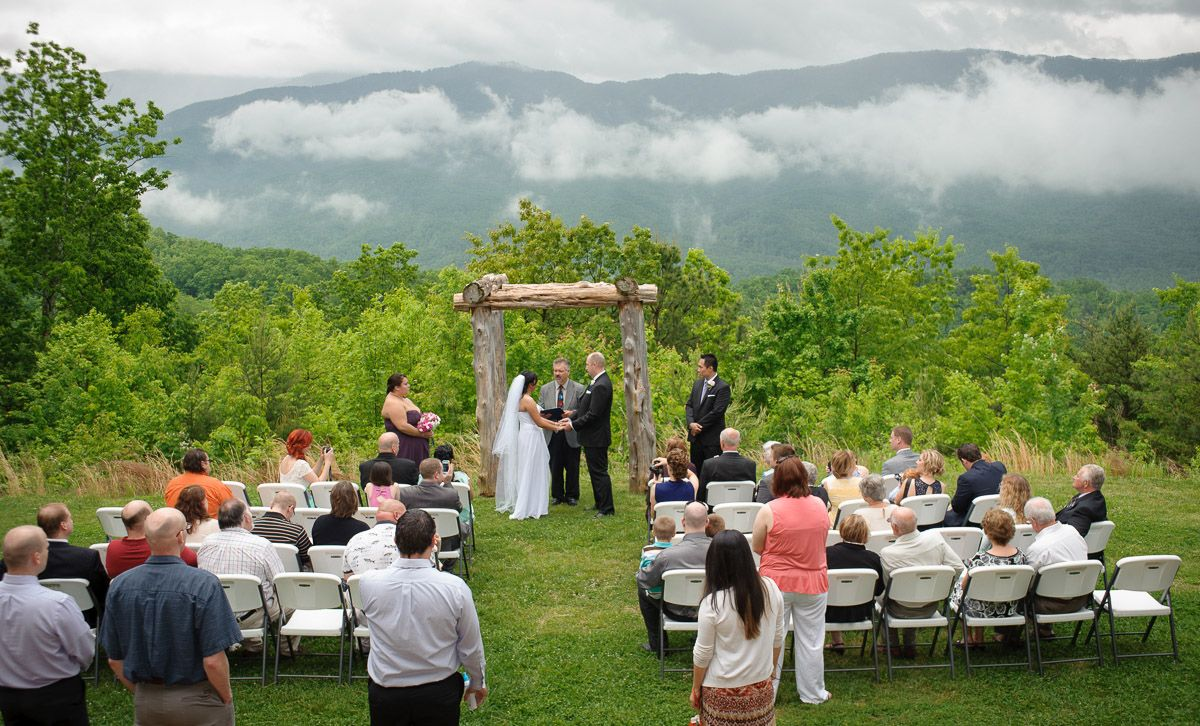 Gatlinburg tennessee wedding packages mountain view