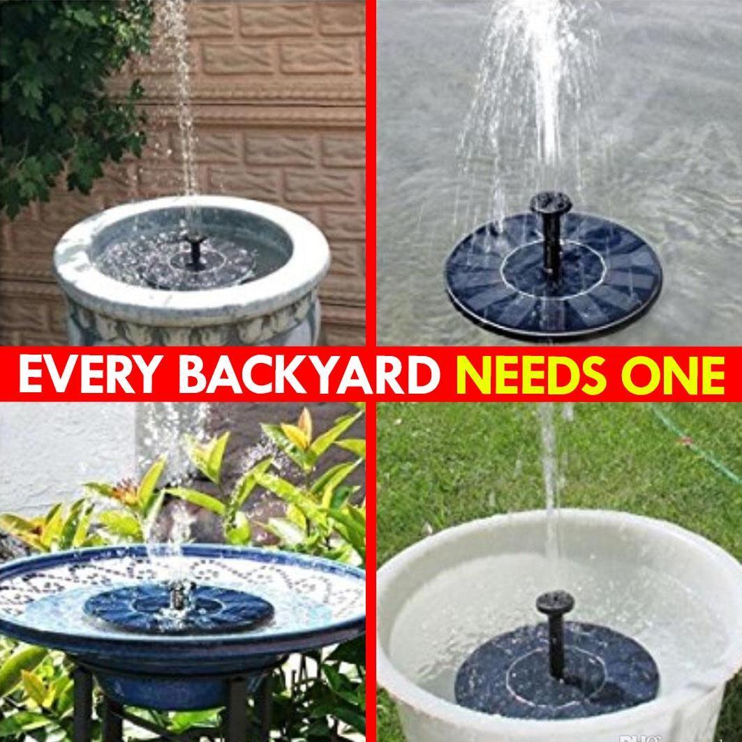 Sun Fountain Solar Powered Pump Video Video In 2020 Diy Garden Fountains Garden Projects Garden Design