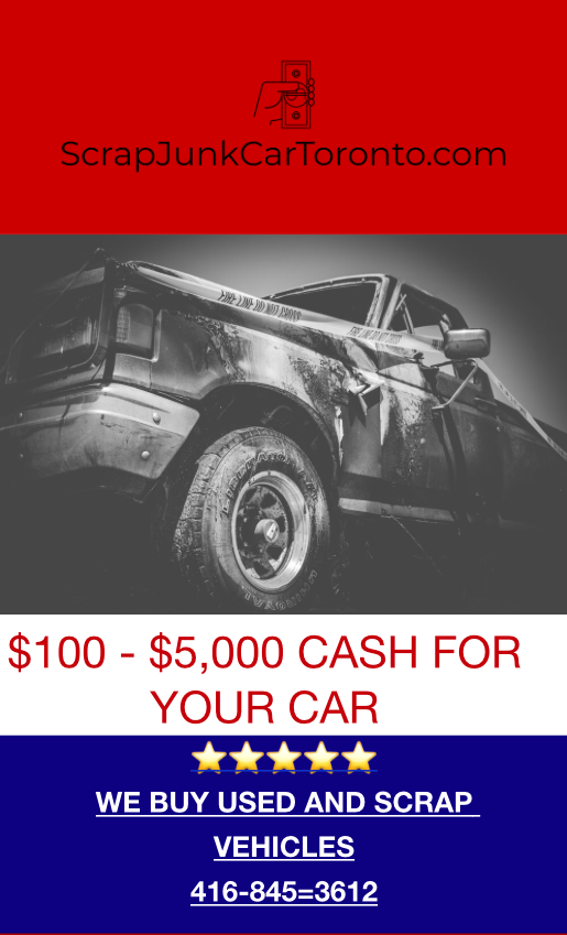 We are in the area and ready to scrap your used vehicle