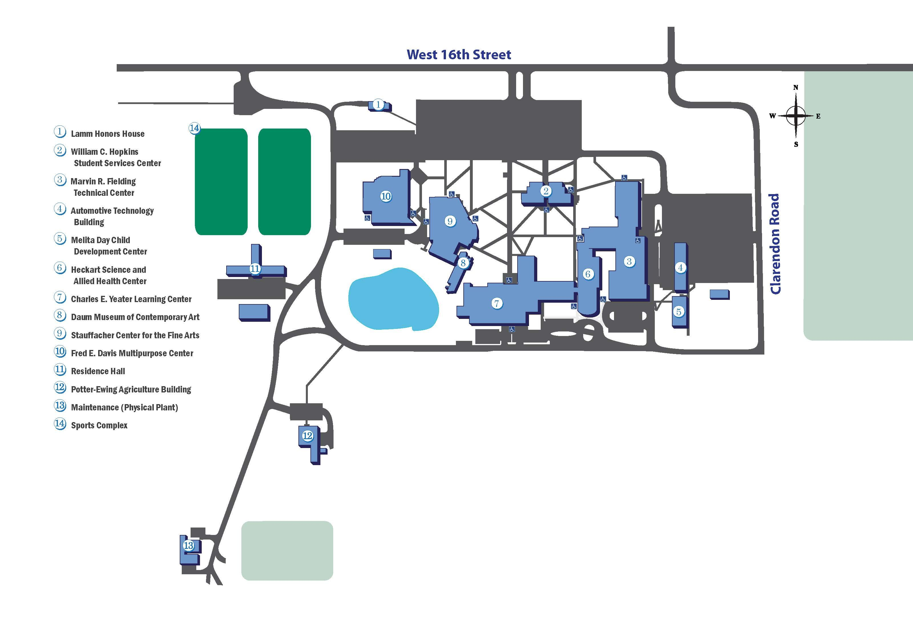Allan Han College Campus Map on