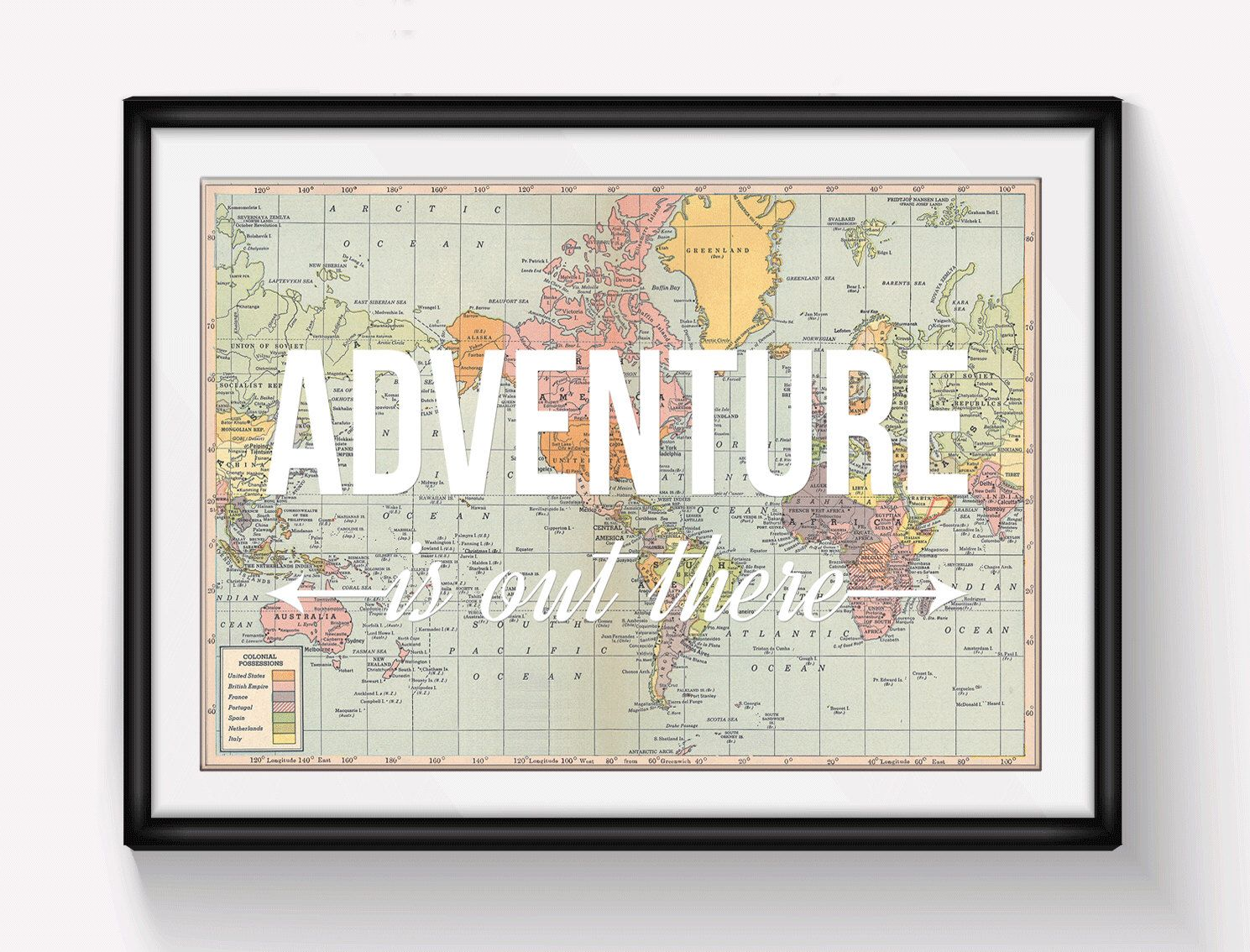 World map poster adventure is out there map of world print world map poster adventure is out there map of world print nursery decor travel quote wanderlust poster map art home decor adventure gumiabroncs Choice Image