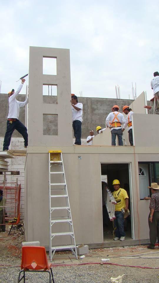 Duratherm Sips Es Un Sistema A Base De Panel De Fibrocemento Y Estireno De Alta Densidad Para Muros Y Losas No Requiere Concre Park Slide Fun Slide Structures