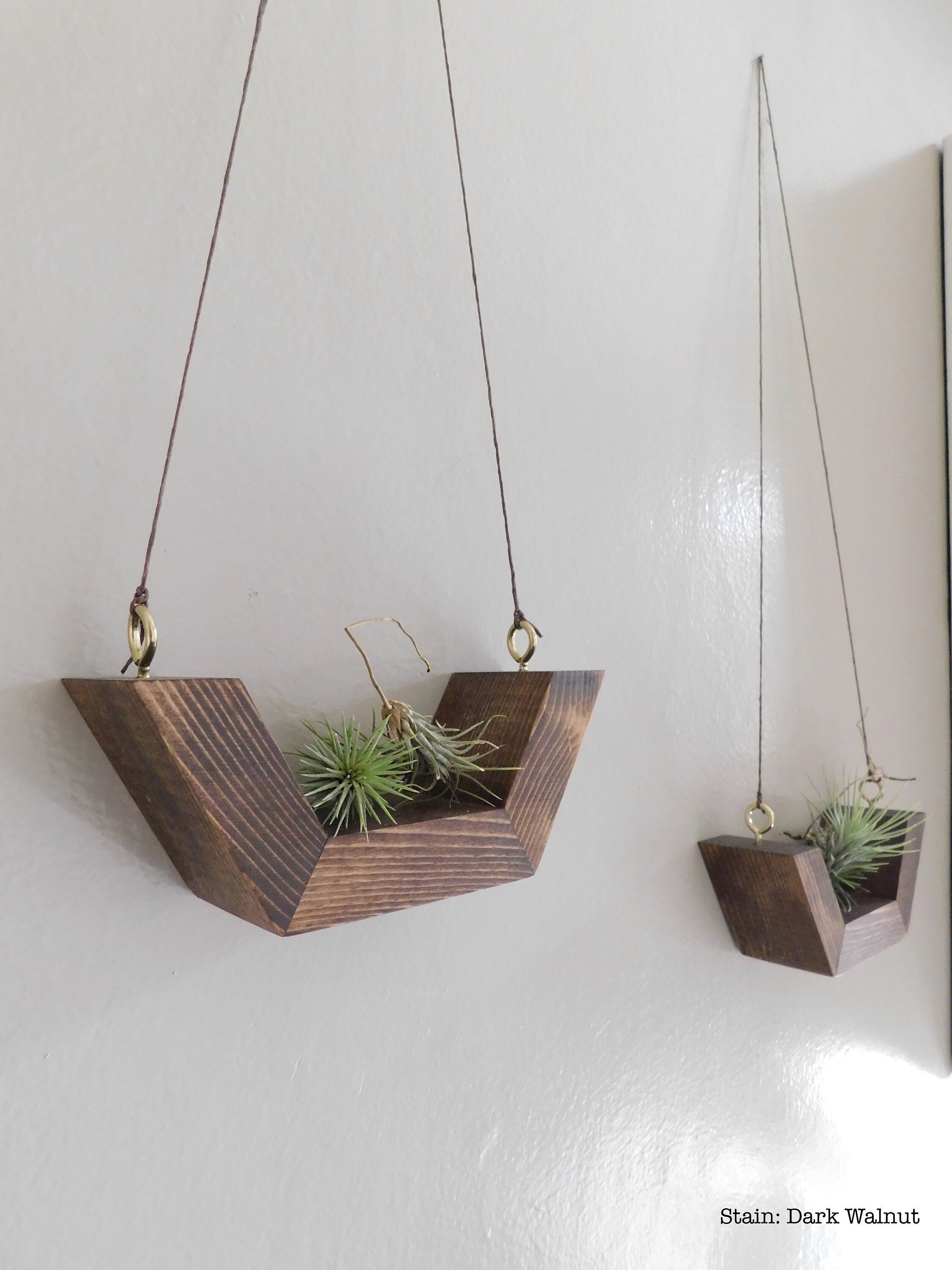 Airplant Wall Hanging Wall Planter Airplants Wooden Airplant Holders Simple Wall Plant Hangi Wooden Wall Hangings Hanging Wall Planters Hanging Wall Decor