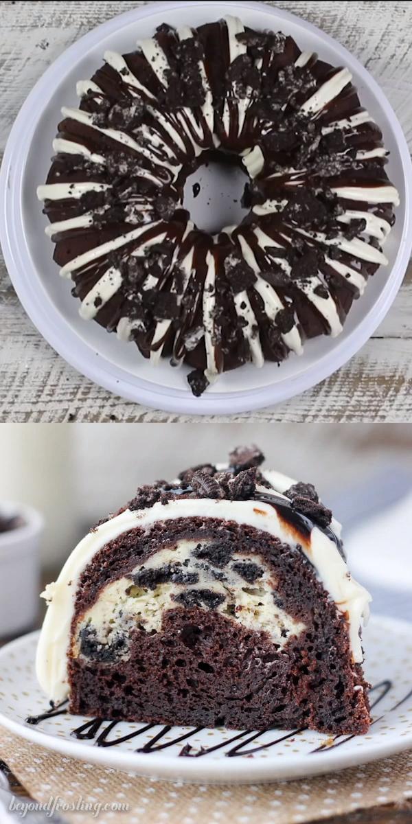 Oreo Cheesecake Bundt Cake