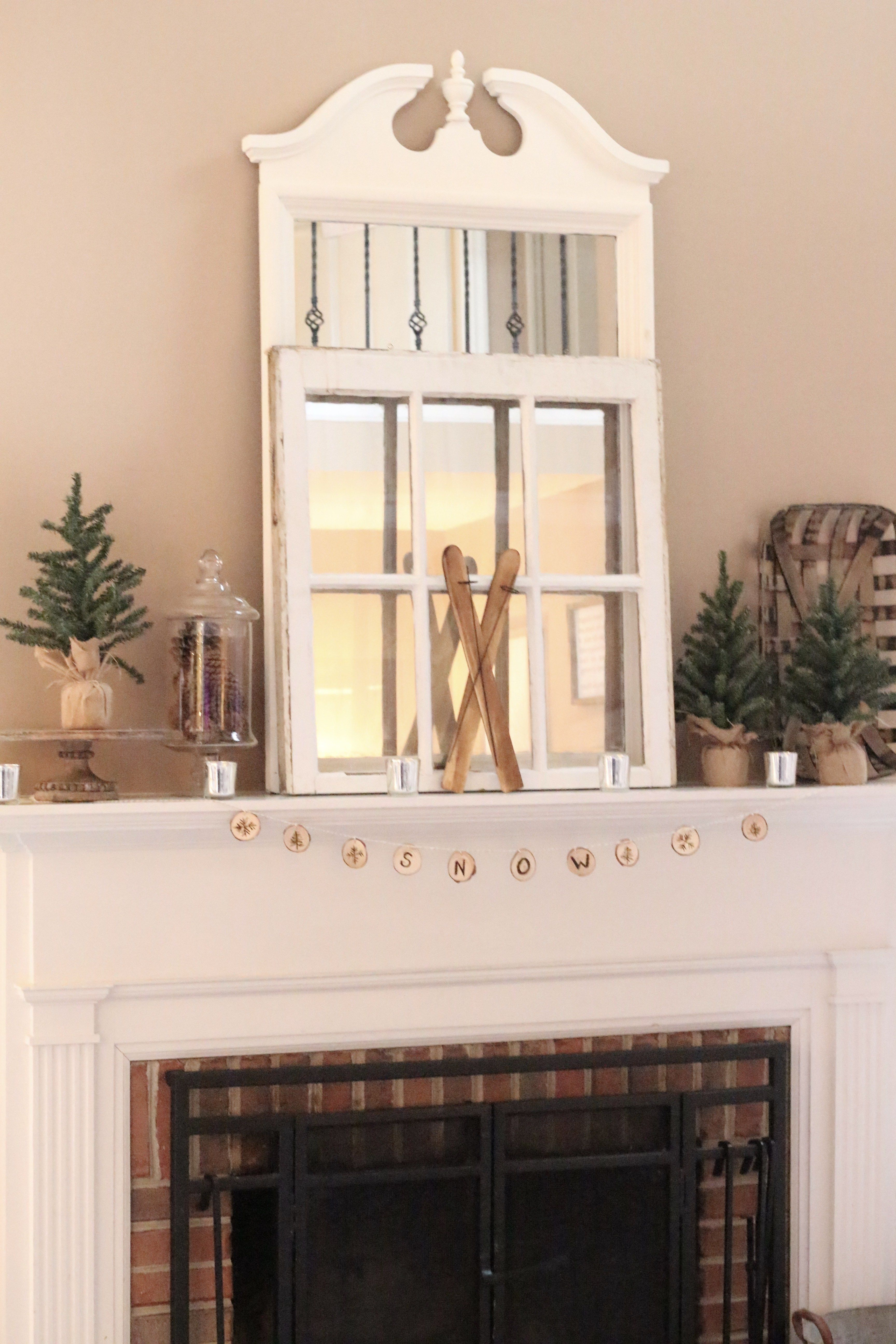 Simple Winter Mantel mantel ideas mantle – Simple Mantel Decor