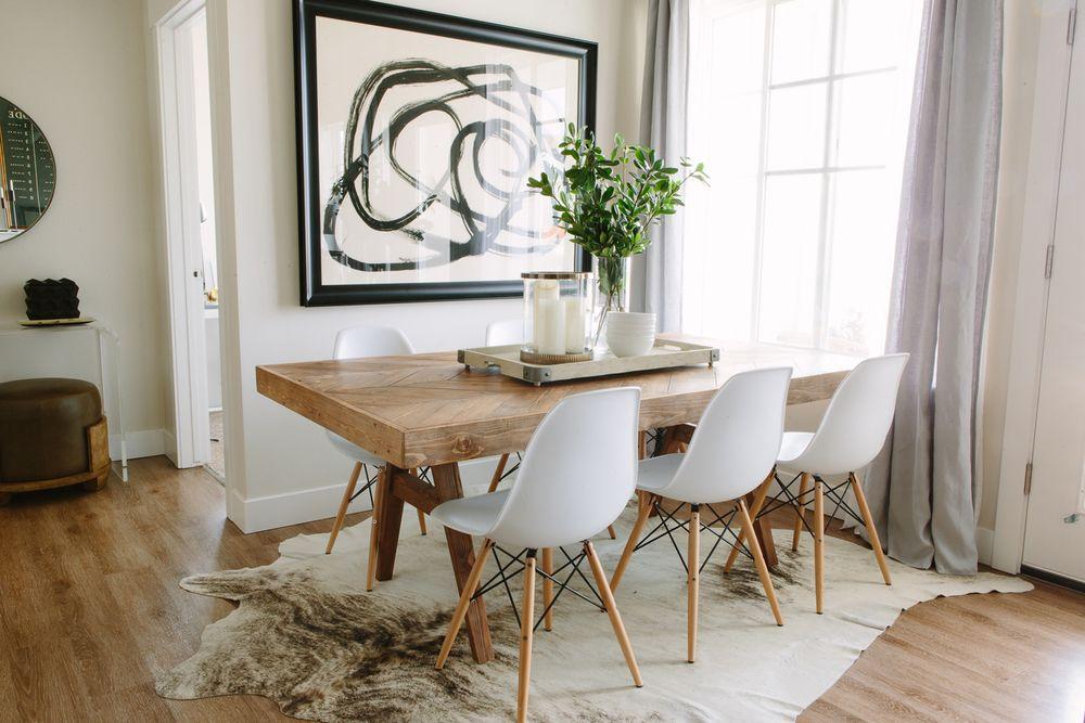 Organic modern dining area design Akin Design Studio
