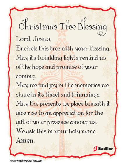 christmas tree blessing download a christmas tree blessing and use it as part of your home or class celebration christmas catholic prayer