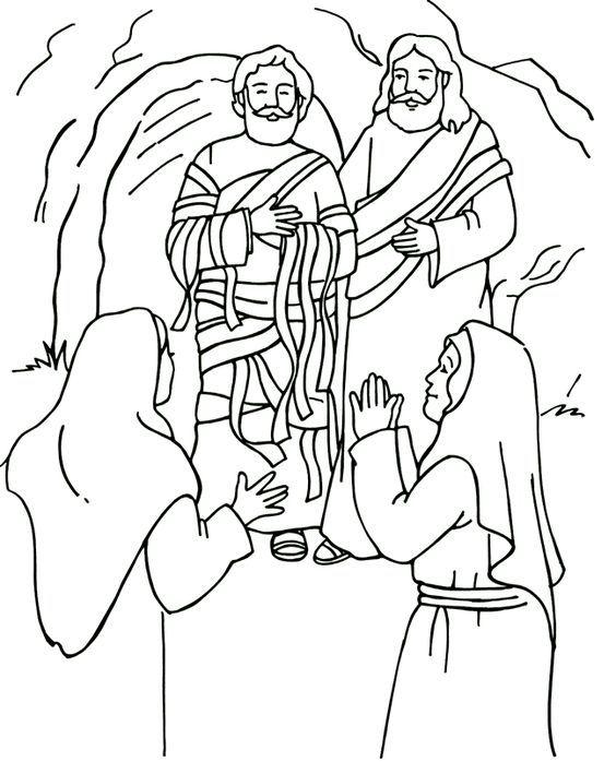 Resurrección de Lázaro Página para colorear, Resurrection of Lazarus ...